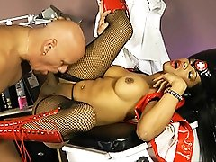 Ebony nurse Sheeba getting banged by her patient