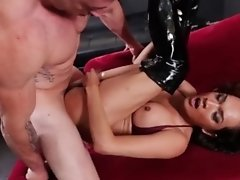 Jessica the Fox's Ass Gets Stretched to the Limit as she gets Fucked on a Red Couch