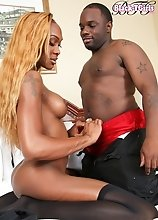 Kayla Biggs is a stunning black tgirl with an incredible body, big tits and a big hard cock! Watch TS Kayla and Dikem sucking and fucking each other!