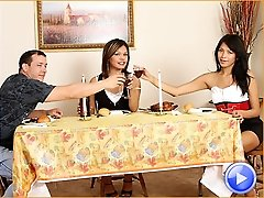Carmen Moore and Jamie Page have a Thanksgiving threesome and get stuffed