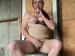 Wendy is so horny she jacks off and cums hard outside the house for everybody to see