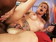 Horny Jasmine gets her brains fucked out by the mechanic