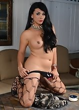 Vaniity tempting in stockings