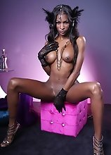 Ebony Natassia posing her goodies