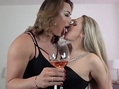 Bianka gives this hot girl a nasty pussy pumpkin' after a good licking'
