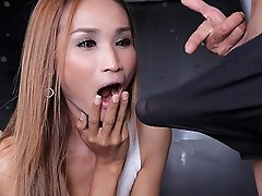 Gorgeous Bee gets a huge dick up that tight ass!