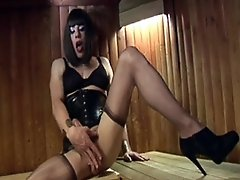 Zoe loves to have a little fun with that big TGirl cock of hers