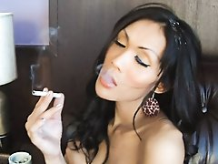 Ladyboy Alis fetish smoking and bareback fuck