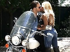 Amazing Jenna having sex with the biker boy
