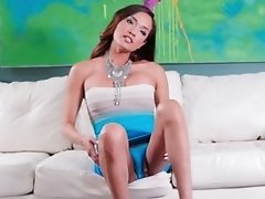 Watch Jessica the Horny Fox Jerk Her Massive Dick until She Cums
