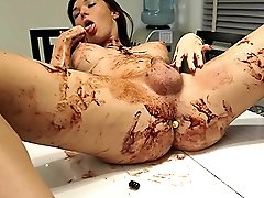Delicious Aubrey covered in syrup