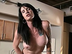Sweet transsexual Morgan Bailey masturbating