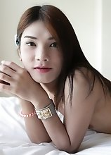 20yo small tits ladyboy sucked off white cock and gets fucked in her tight ass