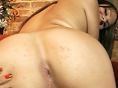 Sweet tgirl Ashley George exposing her tight virgin asshole