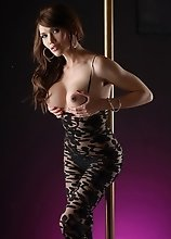 Naughty TS Eva chained on the pole