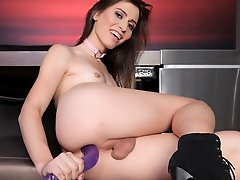We bring you beautiful Korra Del Rio today and she just wants to show us her ass-stuffing dildo skills. This girl is simply just beautiful, sit back a